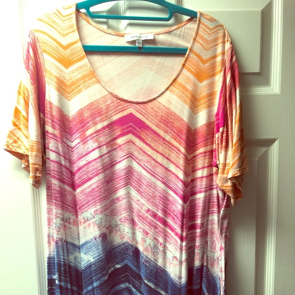 Rose + Olive ¾ length shirt, size 2x